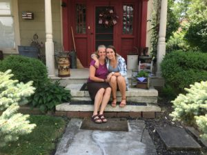 Cathy and Olivia Wince on their front porch July, 2016